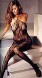 Bodystocking Rose Lace with Neckholder