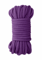 Bondage Rope Cotton & Silk 10-Meter 8mm purple