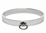 Steel Chrome Slave Collar with Ring of O