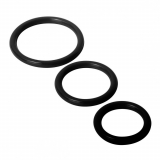 Cock Rings Silicone 3-Pieces black