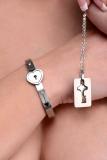 Womens Bracelet lockable & Key-Necklace Cuffed