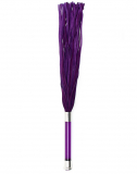Flogger Whip Suede w. Glass Handle Crystal purple