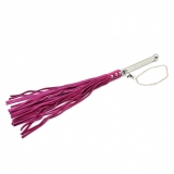 Flogger Suede Leather with Aluminium Handle pink