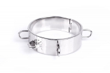 Neck Restraint w. Rings Dungeon Collar Stainless Steel