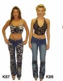 Handbestickte Jeans Ornament L