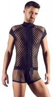 Mens Bodysuit Mesh w. Stripes Freestyle
