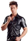 Mens Shirt w. Snaps Leatherette