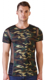 Mens Shirt Camouflage quilted w. Mesh