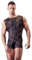 Mens Jumpsuit Lace & Wetlook w. Zipper