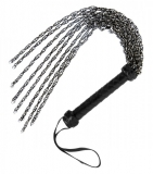 Chain Flogger with Leather Handle