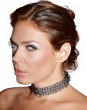 Chain Collar with Leather Straps