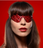 PU-Leather Blindfold embossed bicolor