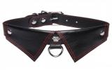 Faux Leather Collar Shirt-Collar