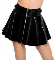 PVC Vinyl Miniskirt flared Skater Skirt