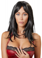Long Hair Wig Black with Bangs Carmen