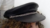 Leather Cap Biker Style
