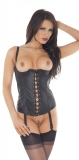 Leather Corset with 1/4 Cups