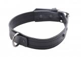 Leder Halsband abschliessbar Spezial Schwarz