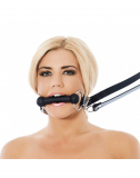 Leather Gag Pony Bit Leash Set