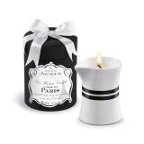 Massage Oil Candle exotic Woods Vanilla Trip to Paris 190g