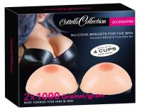 Silicone Breasts 2x 1000g Bra-Inserts