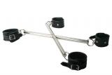 Spreader X-Bar with lockable Leather Cuffs Hog-Tie